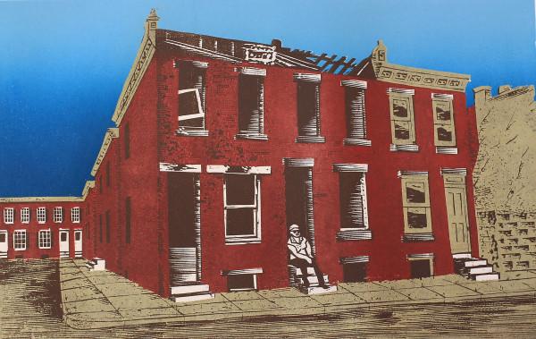 Stoop Sitting in Philly by Tony Lazorko
