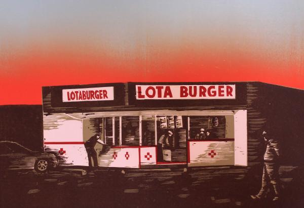 Sunset at Lotaburger by Tony Lazorko