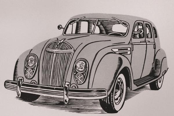 1938 Chrysler Airflow  by Tony Lazorko