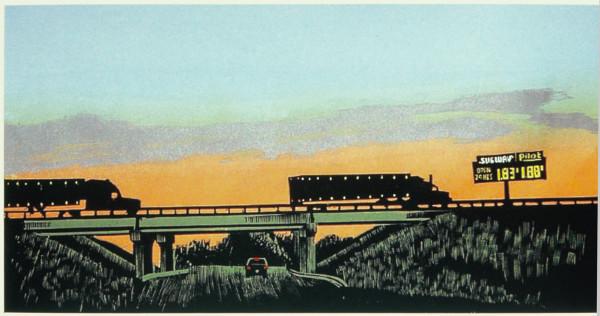 Truckin' at Sunset by Tony Lazorko