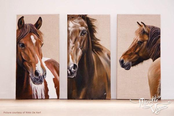 Yssa, Aron and Kaeti - Triptych by Mirelle Vegers