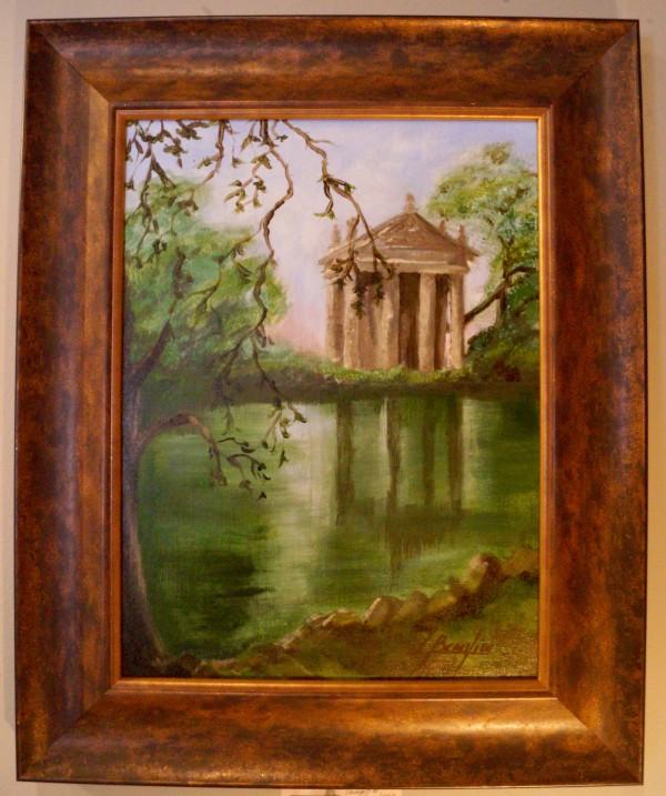 Tempio di Esculapio Rome by Louise Beaulieu