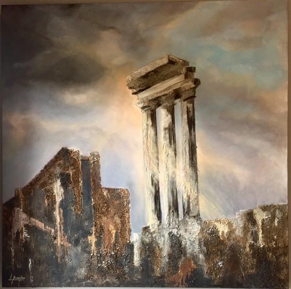 Tempio dei Dioscuri- Foro Romano by Louise Beaulieu