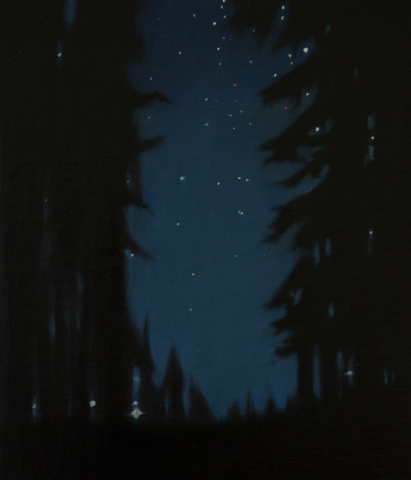 Alger through the trees along I-5 by Lisa McShane