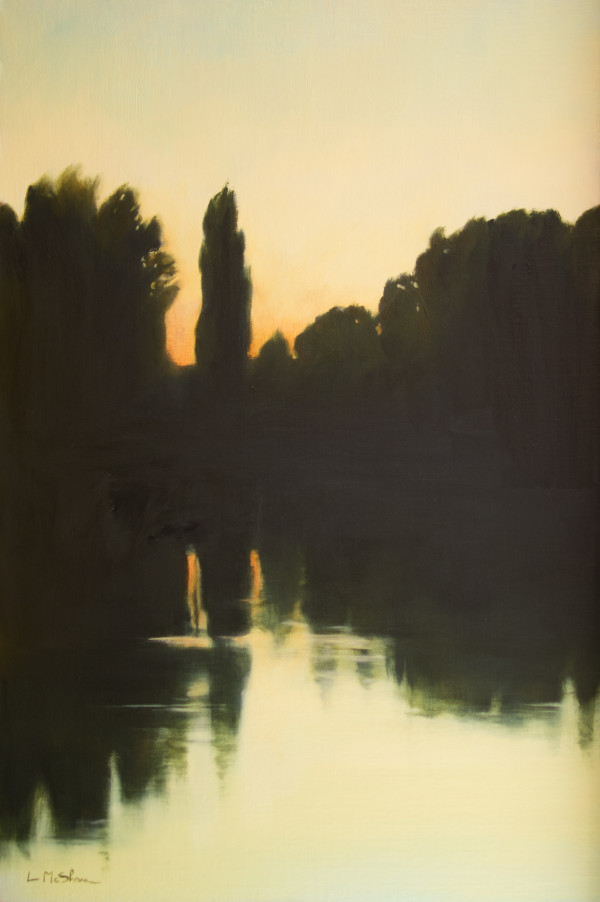 Trees on the river by Lisa McShane