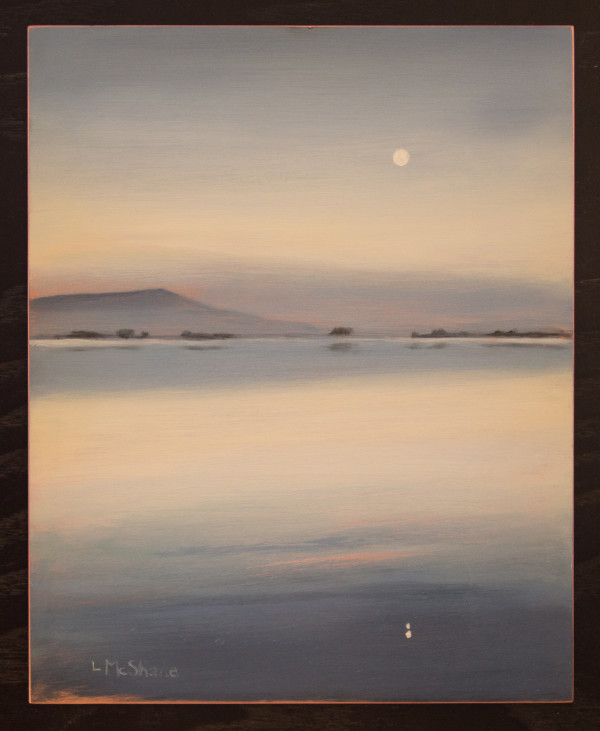 October Moon over Samish Bay by Lisa McShane
