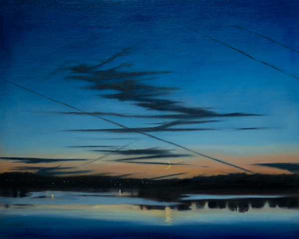 Moonset Over the Bay by Lisa McShane
