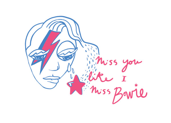 Bowie Cards by Nicolette Leigh Yates