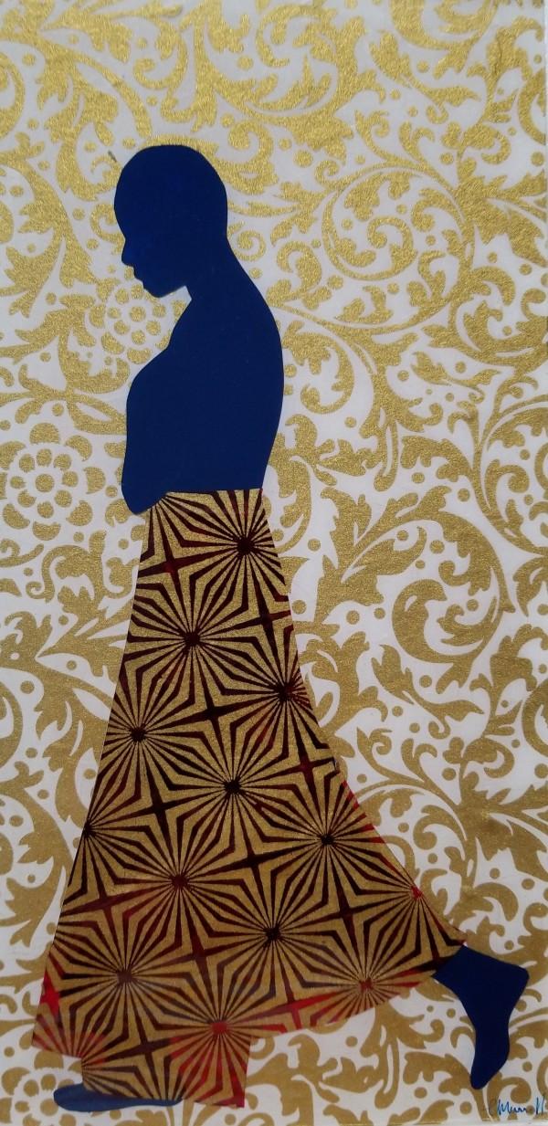 Walk Alone _ Starburst Magenta by Tracy Murrell