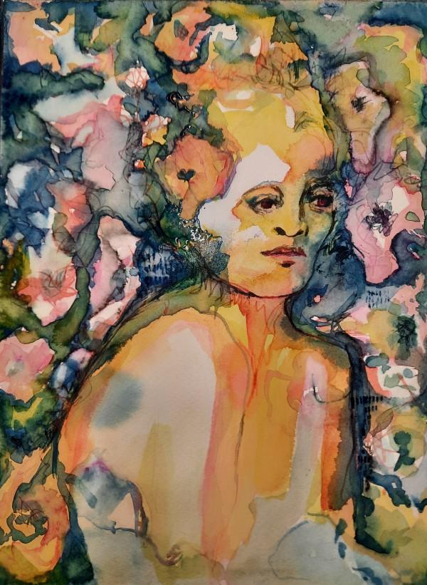Femme fleurs 3 by Danielle Doucet