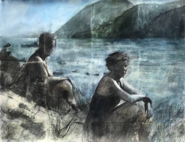Near and Distant Shores: Couple by Krista Machovina
