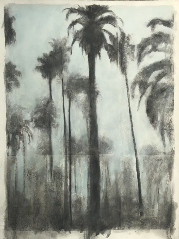 Near and Distant Shores: Palms, blue by Krista Machovina