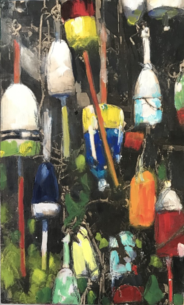 Near and Distant Shores:  Lobster Buoys by Krista Machovina