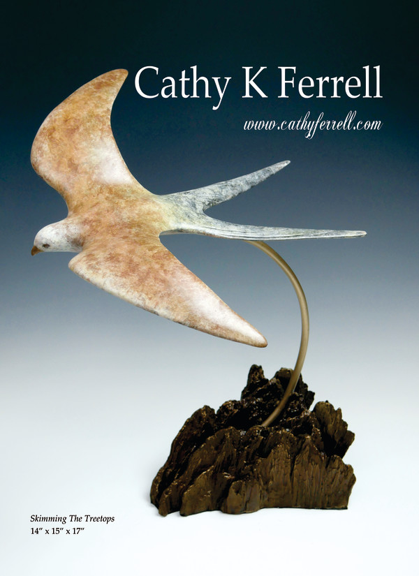 Skimming the Treetops I by Cathy Ferrell