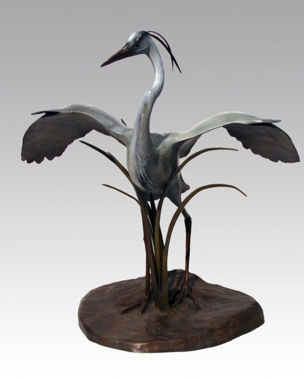 Great Blue Heron by Cathy Ferrell