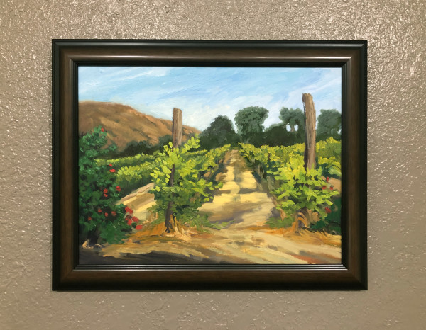 Vineyard Evening, en plein air