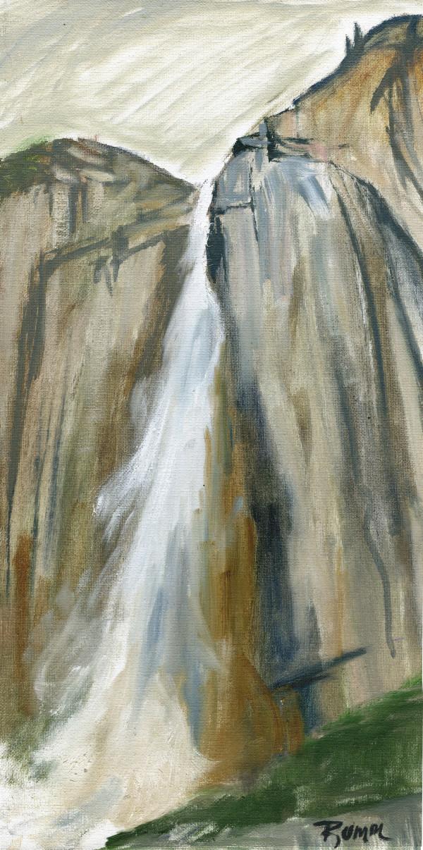 Yosemite Falls Color Sketch