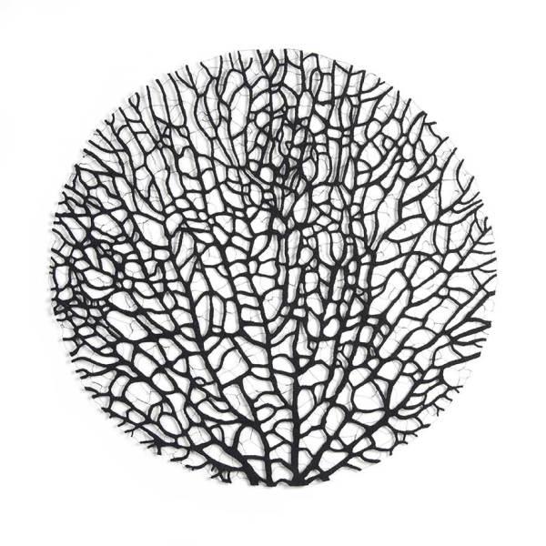 Black coral circle by Meredith Woolnough