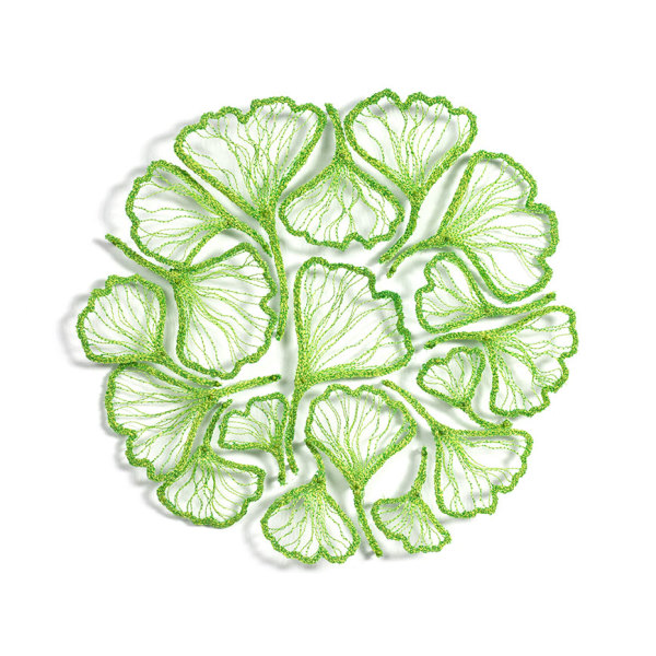Green Ginkgo Circle by Meredith Woolnough