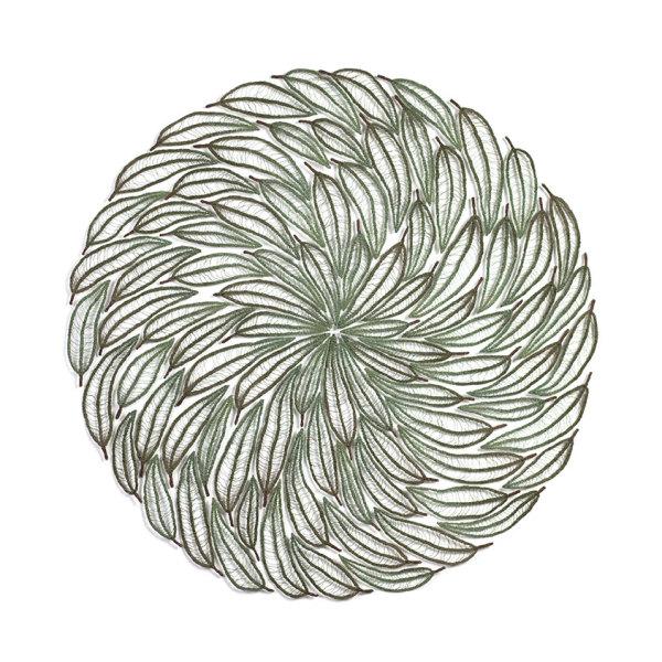 Green Eucalyptus Leaf Mandala by Meredith Woolnough