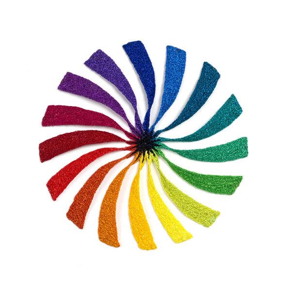 #54 Rainbow Pinwheel by Meredith Woolnough