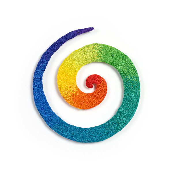 #92 Rainbow Spiral by Meredith Woolnough