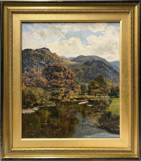 0099 - Landscape with mountains/streams by A. Lee Rogers