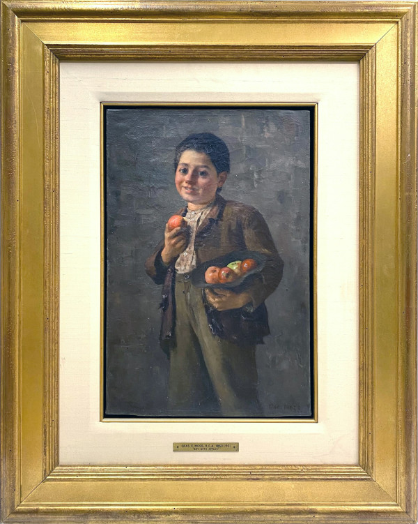 0145 - Boy With Apples by C.E. Moss, RCA (1860-1901)