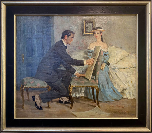 Portrait Painting by Maxwell Coburn WHITMORE (1913-1988)