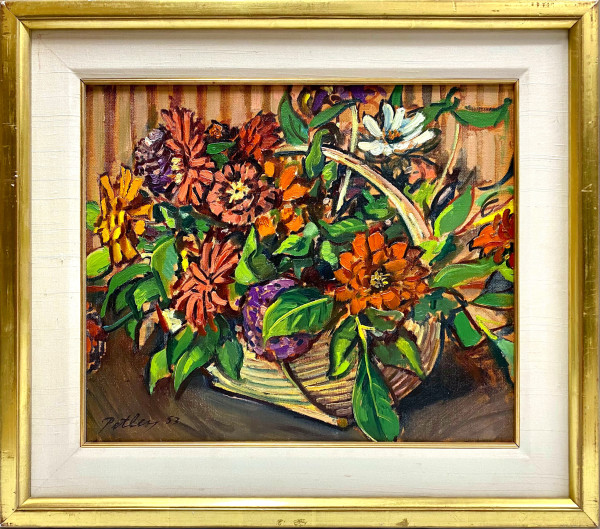 0201 - A Basket of Flowers by Llewellyn Petley-Jones (1908-1986)