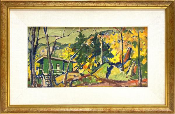 0207 - Autumn Landscape, Horseshoe Bay by Llewellyn Petley-Jones (1908-1986)