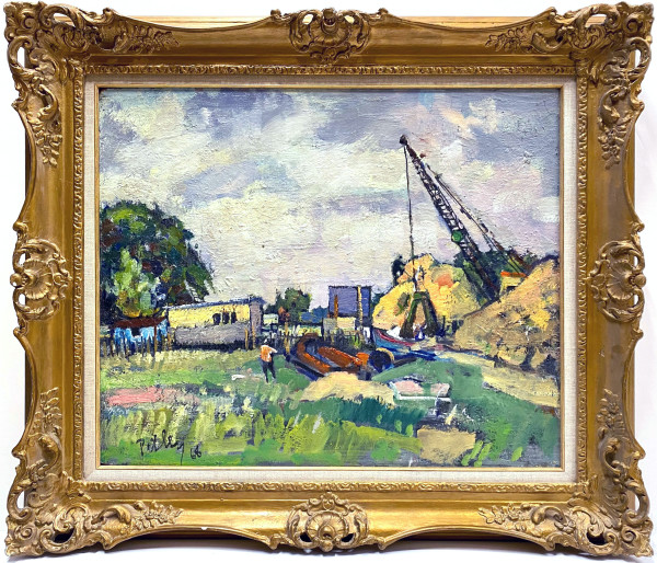 0243 - River Works on the Thames by Llewellyn Petley-Jones (1908-1986)