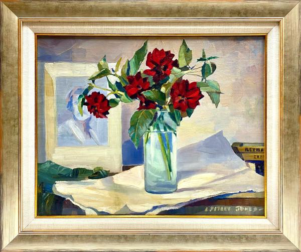 0245 - Roses in Vase by Llewellyn Petley-Jones (1908-1986)