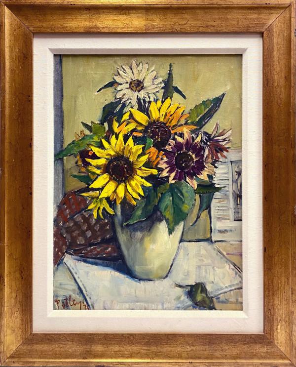 0256 - Sunflowers, Richmond by Llewellyn Petley-Jones (1908-1986)