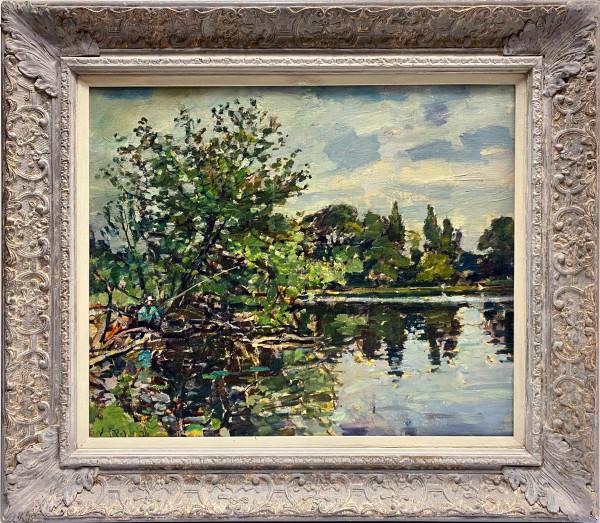 0257 - The Lake, Richmond England by Llewellyn Petley-Jones (1908-1986)