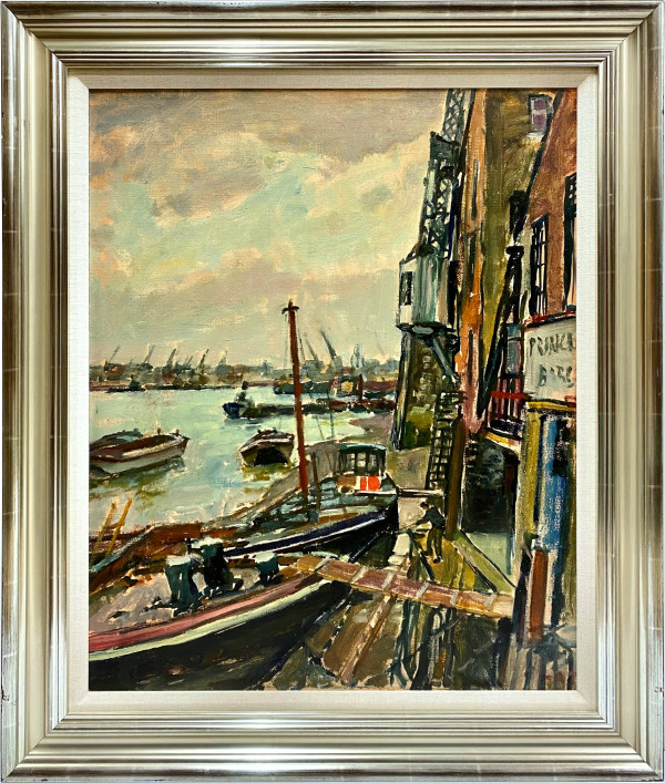 0261 - Untitled, Shipyard by Llewellyn Petley-Jones (1908-1986)