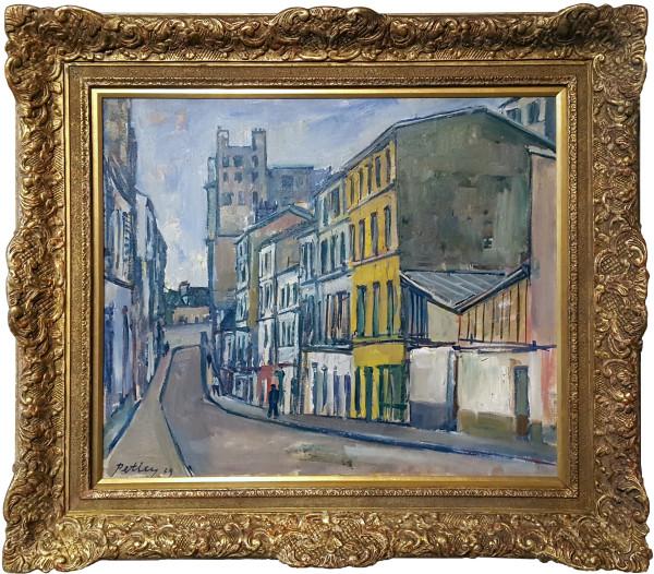 0295 - Rue de trois Freres, Montmarte by Llewellyn Petley-Jones (1908-1986)