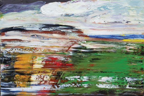 0854 - Green Smudge by Matt Petley-Jones