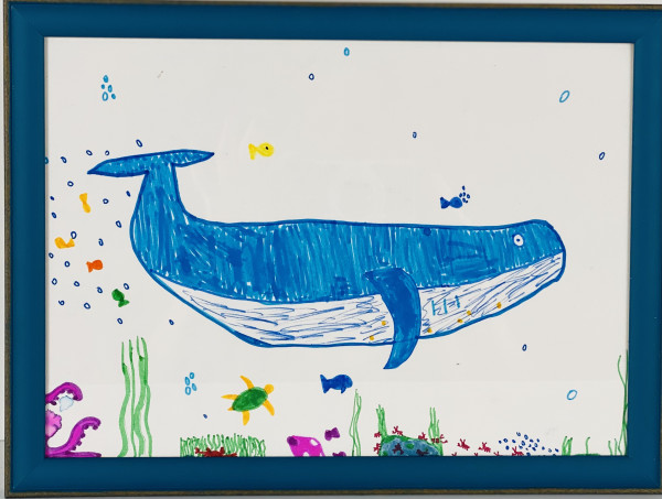 3509 Blue Whale & Fishy Friends by FamJam Studios