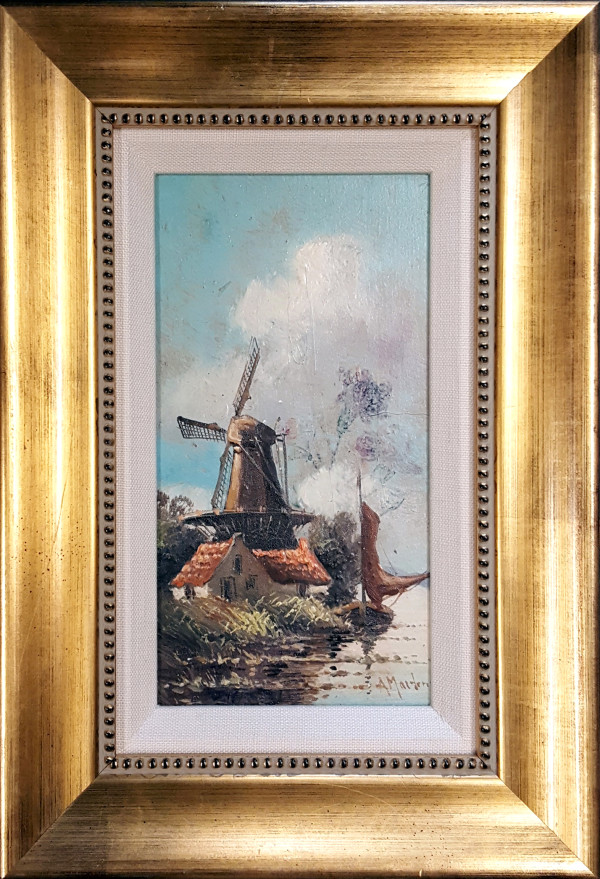 1004 - Coastal Windmill by Arthur Martens (1883 - 1966)