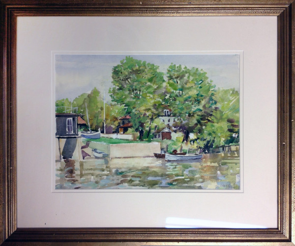 1034 - Houses by the Water by Llewellyn Petley-Jones (1908-1986)