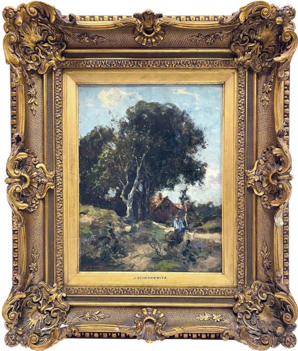 1096 - Untitled Landscape by Johan Frederick Cornelius Scherrewitz ( 1868 - 1951 )
