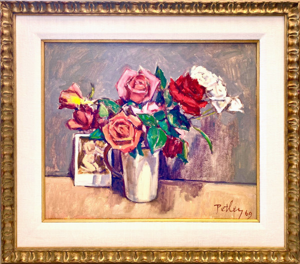 1102 - Untitled (  Roses ) by Llewellyn Petley-Jones (1908-1986)