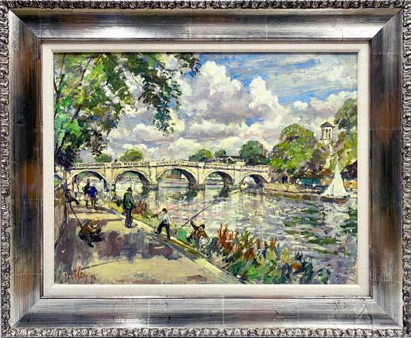 1378 - Summer Day – Richmond Bridge by Llewellyn Petley-Jones (1908-1986)