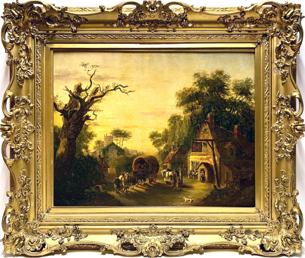 1855 - Village Scene, Europe