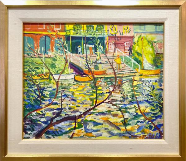 1866 - On the Thames by Llewellyn Petley-Jones (1908-1986)