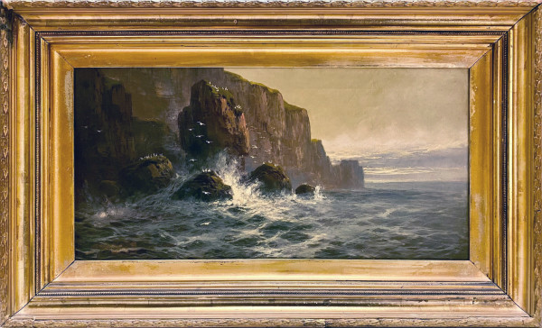 1993 - Kynance Cove Cornwall by John BRETT ARA ( 1830 - 1902 )