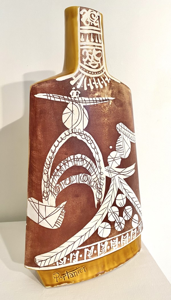 4070 - Vallauris Ceramic Vase by Gilbert Portanier ( 1926 - present)