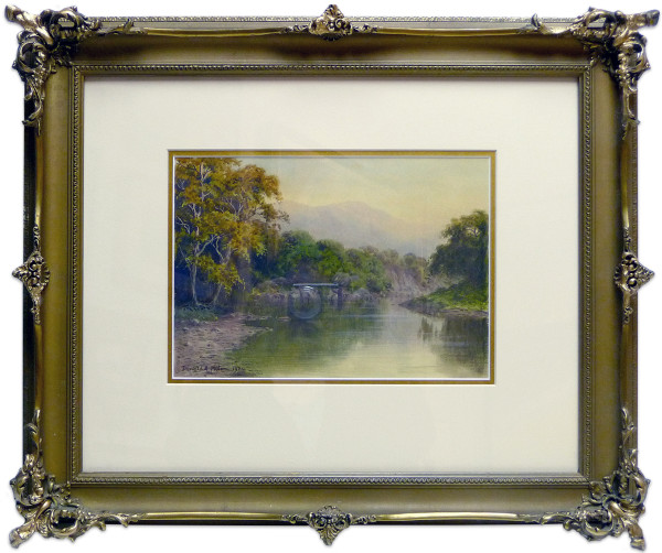 2054 - A backwater at the head of Bassonthwaite Lake by Donald A. Paton (1879-1949)