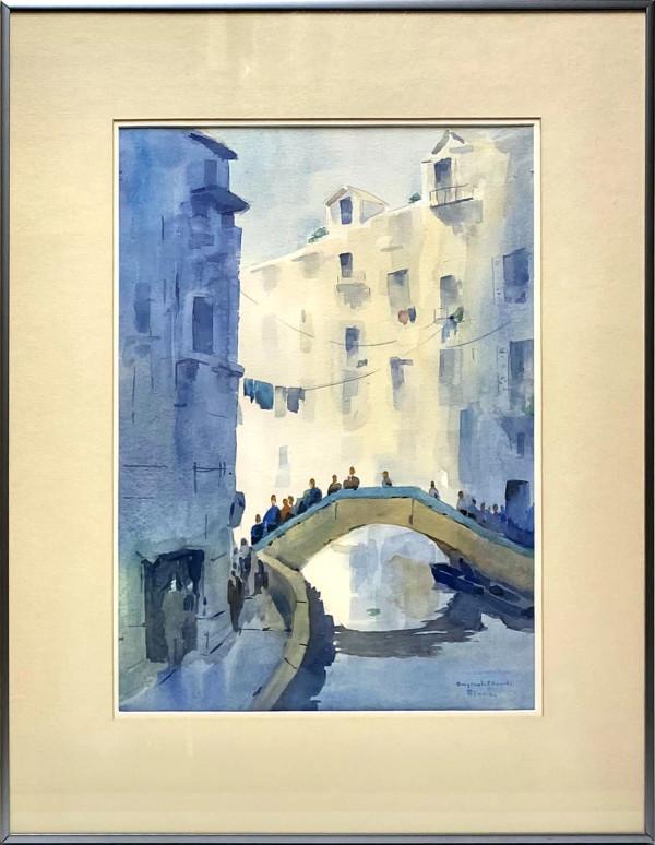 2057 - Blue Bridge, Venice by Rennie Edwards